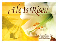 Hi is Risen - Postcard 5X7 - Front