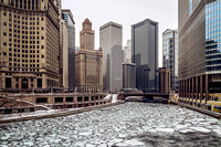 Ice on the Chicago River