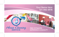 Business Card - House Cleaning - Pink